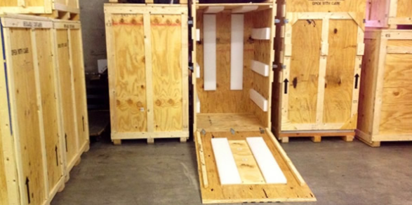 Wood Crates with Padding