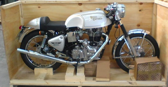 Wood Motorcycle Case